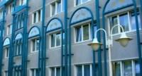 Gestell als Verzeirung von Fassade