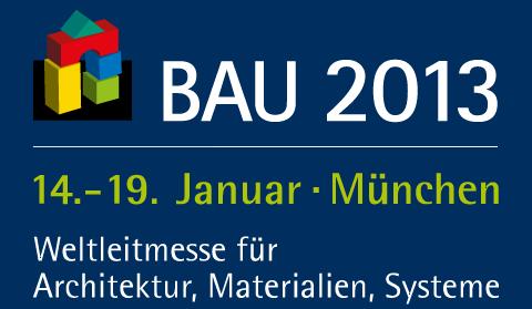 Logo der BAU 2013 Messe München