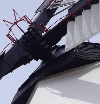 Flügelspinne zur Steuerung der Lamellen Jalousien in Mühlenflügeln