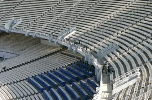 Tribüne eines Fußballstadions