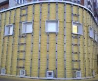 Rundes Gebäude mit Polyurethan Ortschaum gedämmt