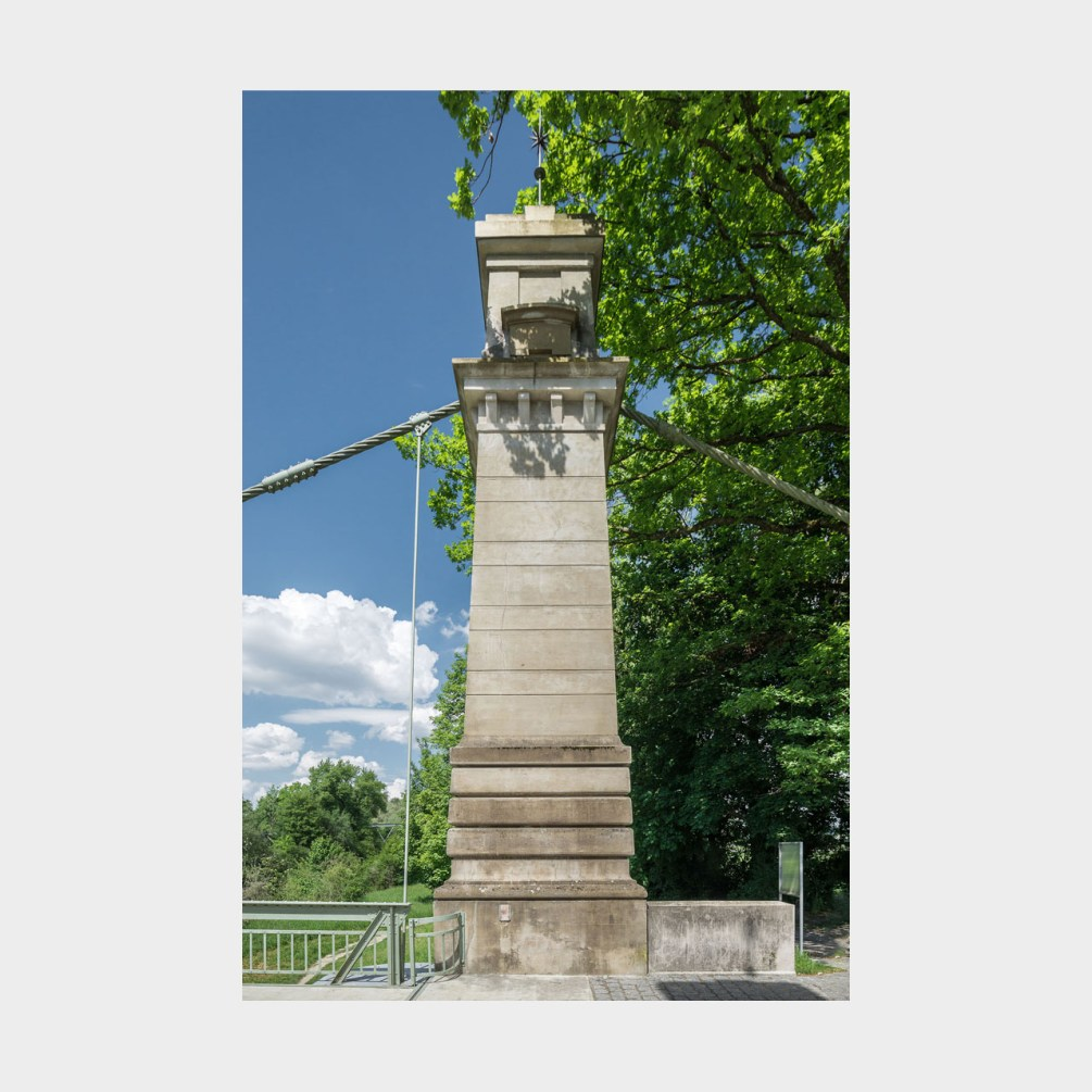 Architekturfotografie Argen Hängebrücke Kressbronn