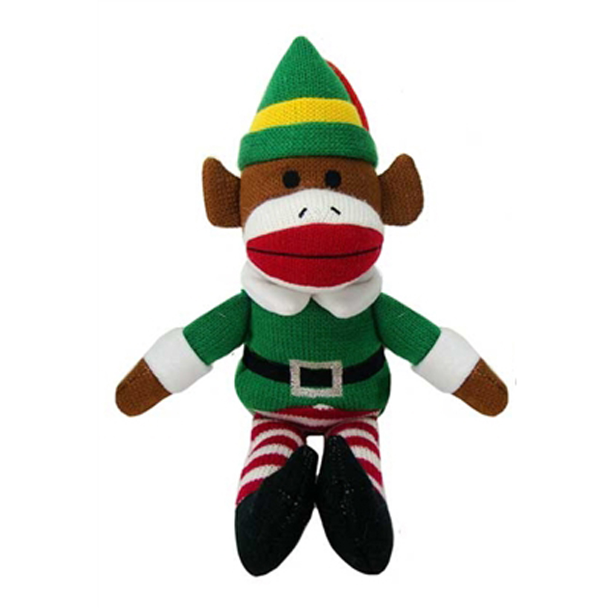 Holiday Sock Monkey Dog Toy Buddy The Elf BaxterBoo