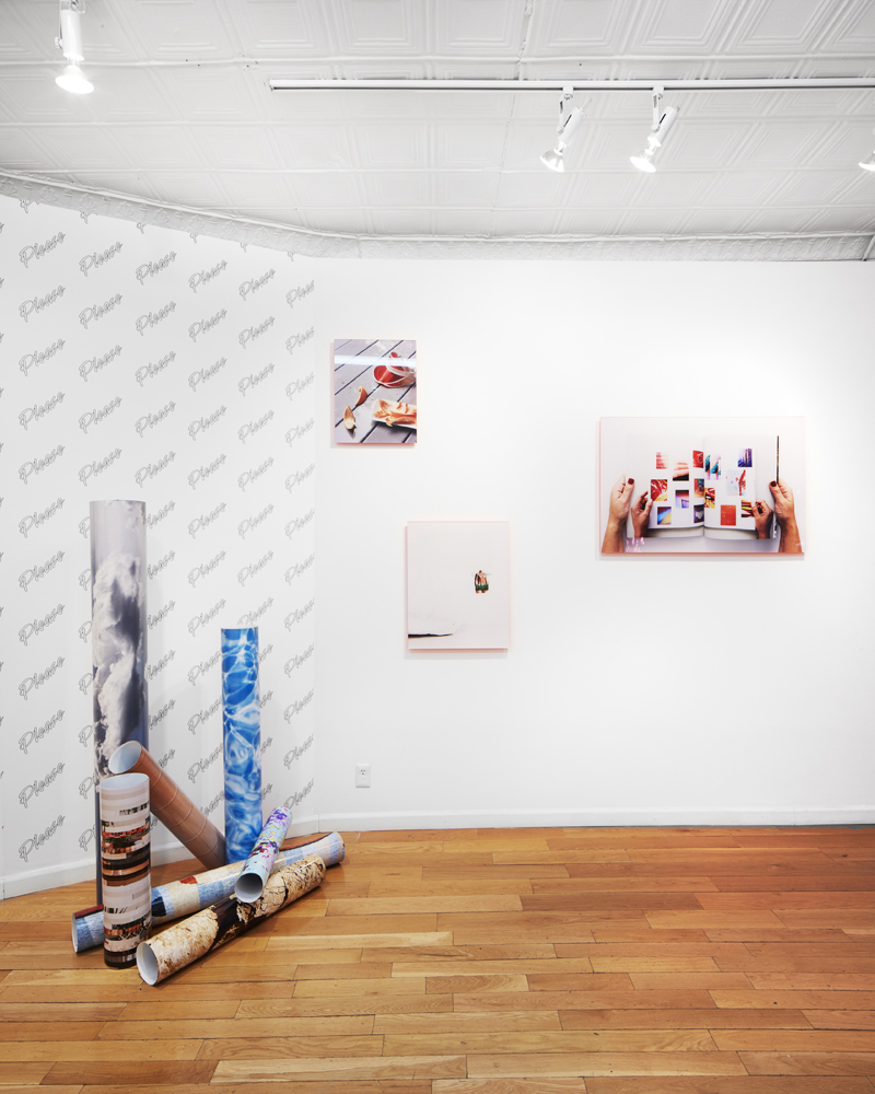 Installation view of Marco Scozzaro's Digital Deli solo show at Baxter St in NYC.