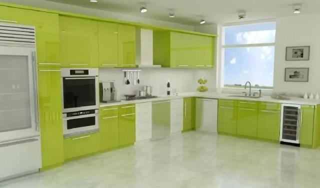Yeşil Mutfak Dolabı Modelleri