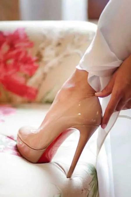 Nude Rengi Parlak Ayakkabı Modelleri