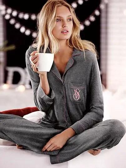 Bayan Sade ve Güzel Pijama Modelleri