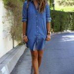 Kısa Kot Elbise Modelleri