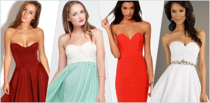 Straplez Elbise Modelleri