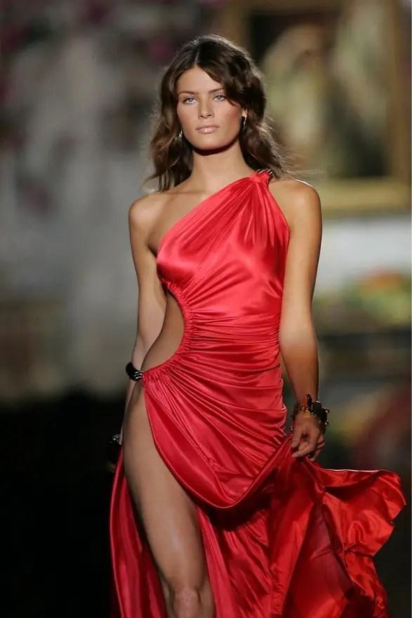 Kırmızı Saten Elbise Modelleri