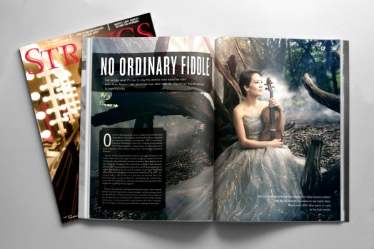 Anne Akiko Meyers Strings Magazine Mockup Cover and Spread