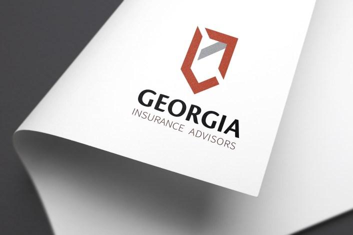 Georgia-Insurance-Advisors-Logo-Mockup-on-white-paper-curled