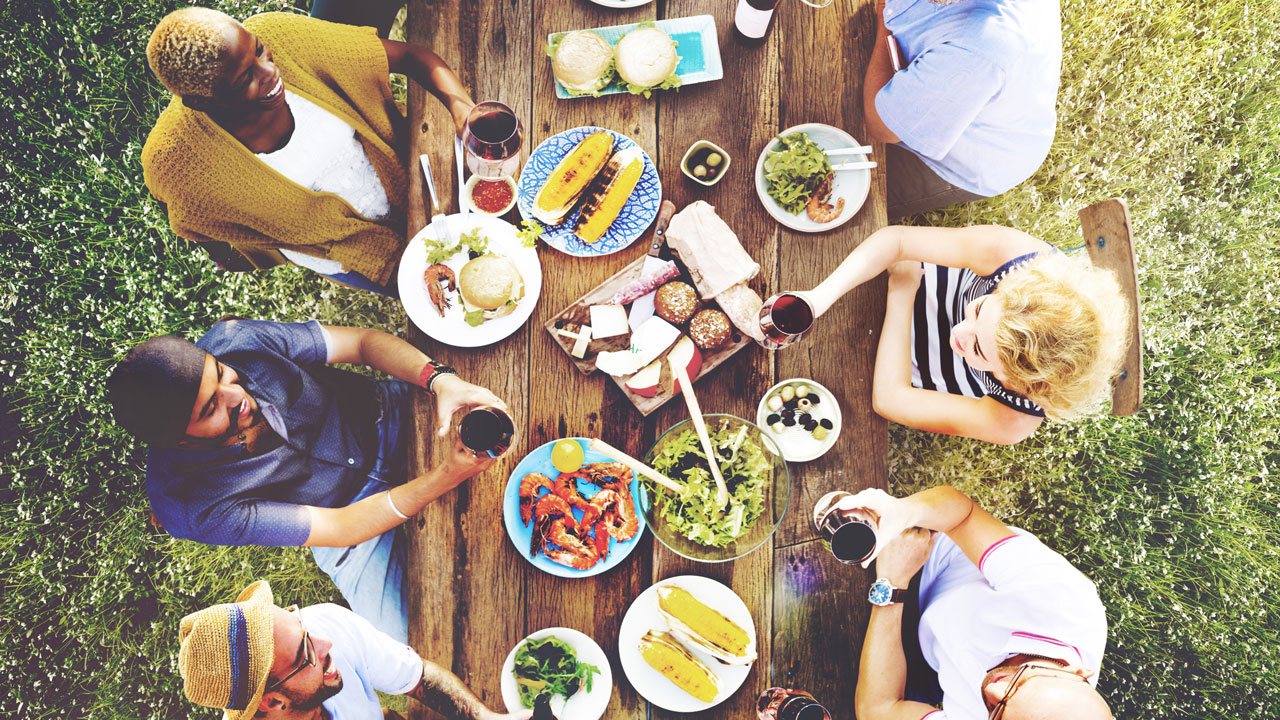 Wine and dine your friends at a summer BBQ.