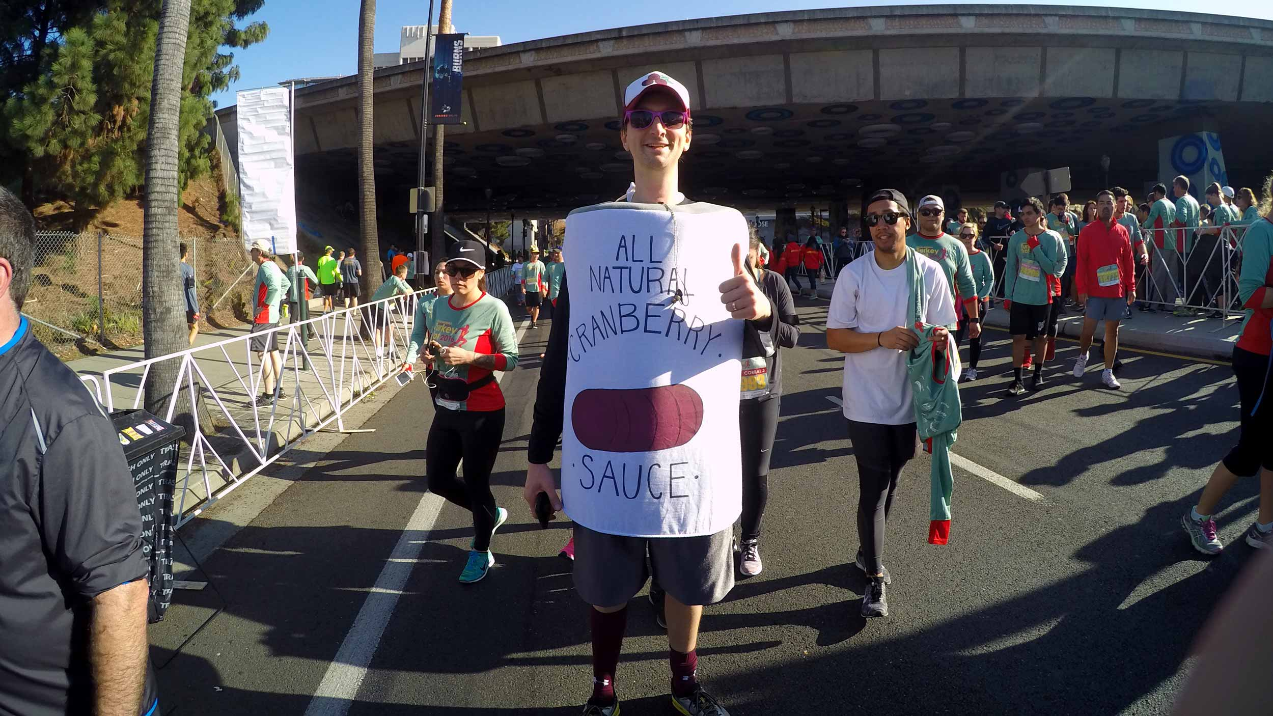 cranberry sauce costume at the Silicon Valley Turkey Trot