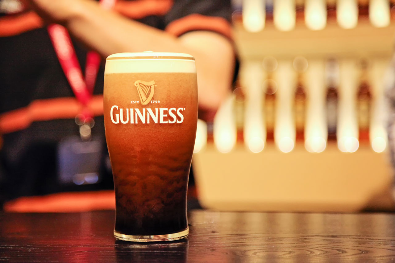 healthy alcoholic drinks, such as Guinness