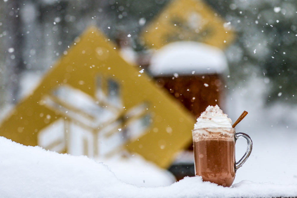 Hot chocolate at Northstar.
