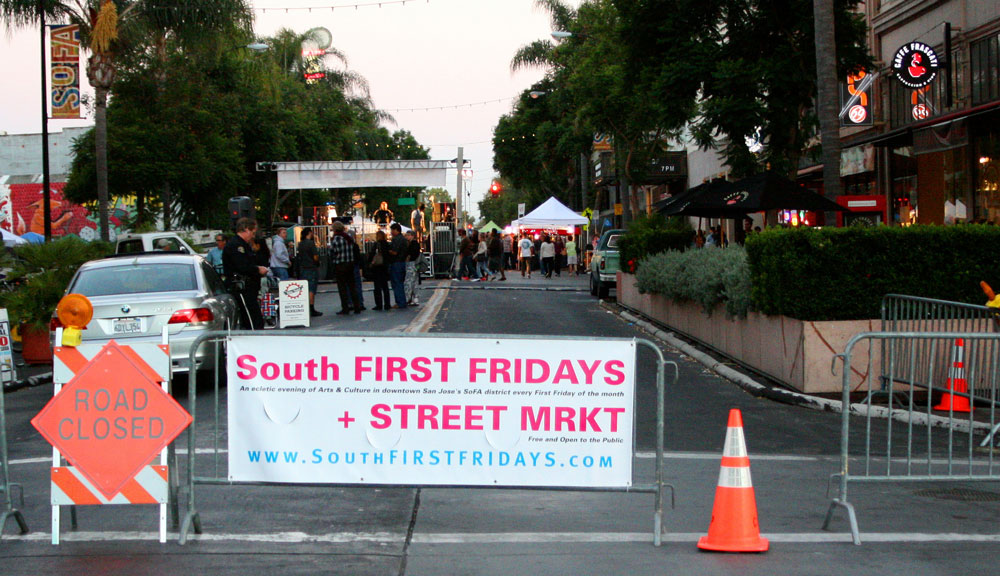 South First Friday Walk in San Jose is a perfect spot to bring a date.