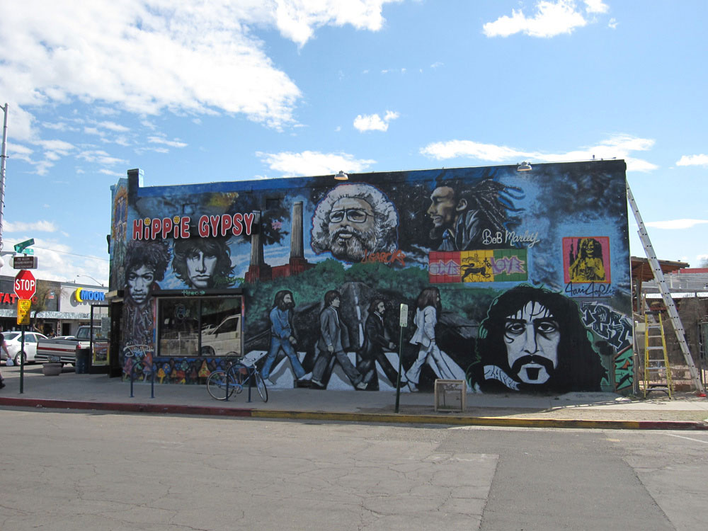 A mural on Fourth Ave in Tucson.