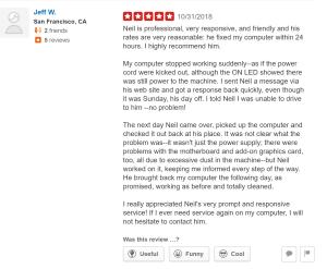 Yelp Reviews | Bay Area Computer Repairs