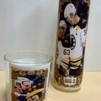 Playoff Candles featuring Chara and Marchand