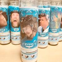Playoff candle featuring Erik Karlsson