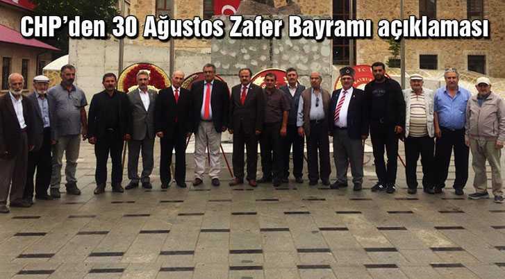 CHP'den 30 Ağustos Zafer Bayramı Açıklaması