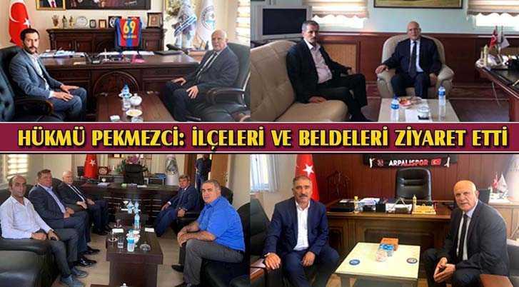 Belediye Başkanı Hükmü Pekmezci, İlçe ve Beldeleri Ziyaret Etti