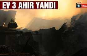 Bayburt'ta Çıkan Yangında 7 Ev 3 Ahır Yandı