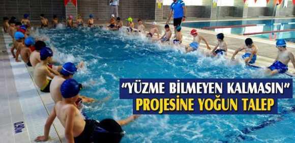 """Bayburt'ta,""""Yüzme Bilmeyen Kalmasın"""" Projesine Yoğun Talep"""