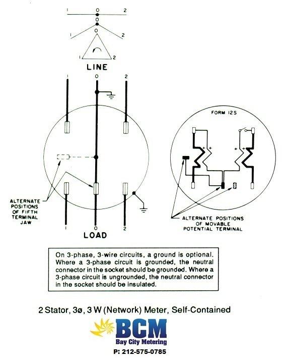 3 Phase Electric Meter Wiring Diagram - Wiring Diagram