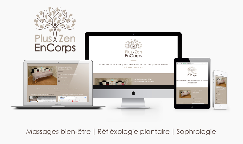 Logo, Print & Web – Plus Zen EnCorps