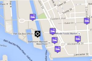 See closest hotels on a map