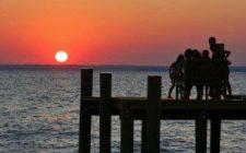 camping-dock-sunset