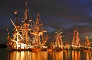 The Schooner Sultana and visiting ships during Downrigging weekend