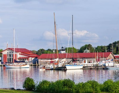 Chesapeake Bay Maritime Museum and marina