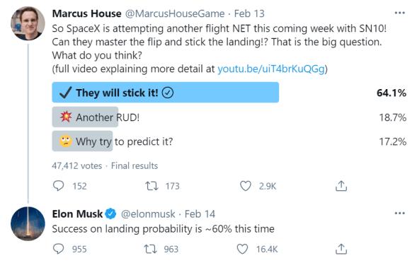SpaceX Spaceship SN10 Landing