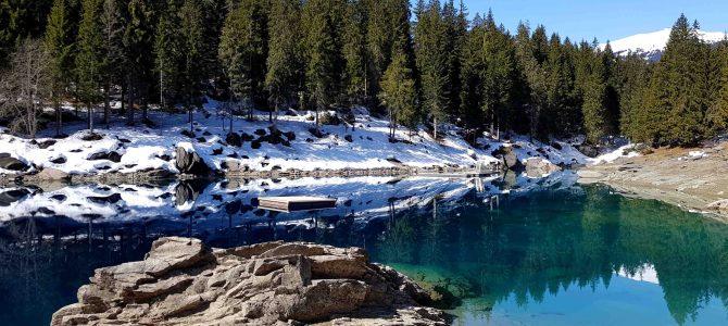In der Schweiz unterwegs – Rundwanderung vom Caumasee über die Aussichtsplattform Il Spir zum Crestasee