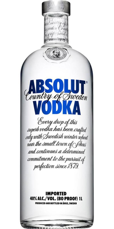 Absolut Vodka 1000ml