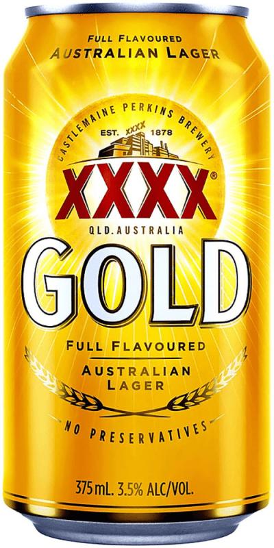 XXXX Gold Can 30 Packs 375ml (Carton)