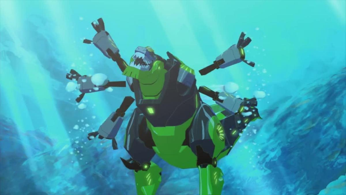 Robotic Tyrannosaurs are perfectly adapted to swimming. Honest.