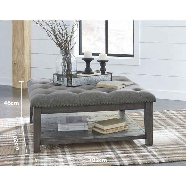 tenelle indoor fabric ottoman coffee table