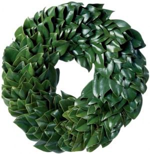 All Green Magnolia Wreath