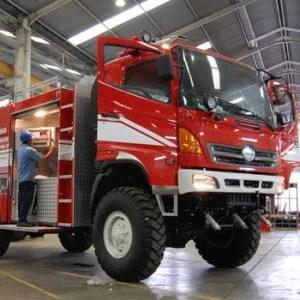 Feuerwehrwagen in der Montagehalle von Ziegler in Jakarta: Hauptkunde des schwäbischen Unternehmens in Indonesien ist die Öl- und Gasindustrie. Fotoquelle: handelsblatt.com