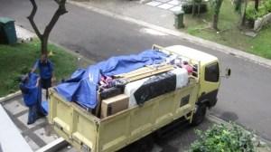 Trotzdem war der LKW voll bepackt