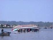 Ein gekenterte Boot Fotoquelle: Jakarta Post