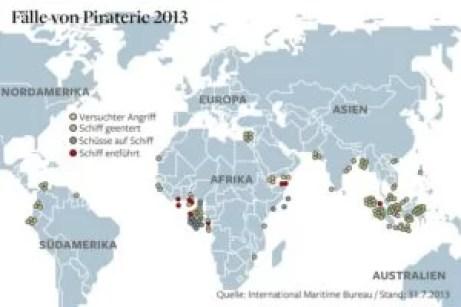 Grafik der Piratenüberfälle von Jan-Jul 2013 Quelle: welt.de