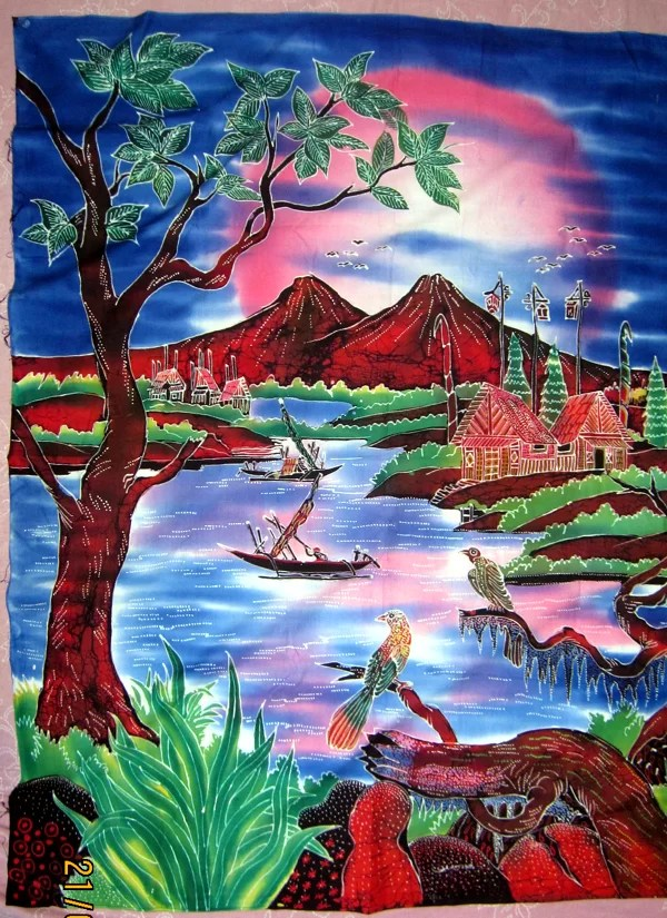 Batik-Bilder sind Kunstvoll von Hand gemalte Bilder