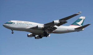 Boing der Cathay Pacific Airline Foto: Wikipedia