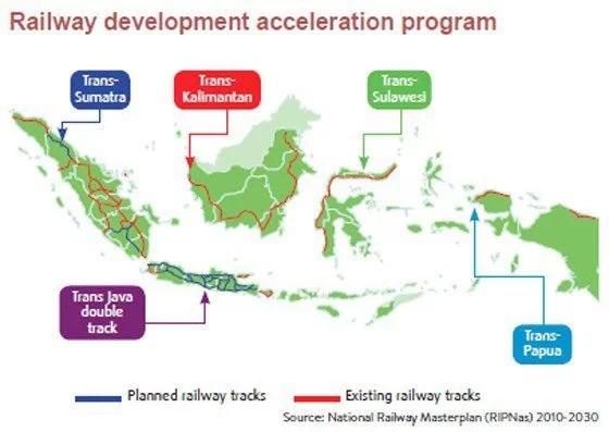 Streckenbauplanung Indonesien Screenshot: Jakarta Post