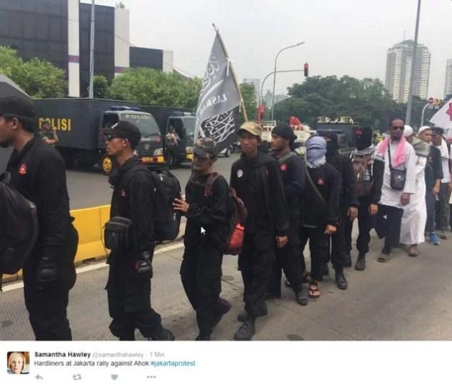 Großdemonstration in Jakarta 04.11.2016 / Foto: Twitter